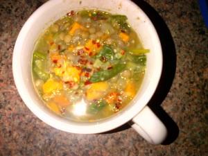 lentil soup cup