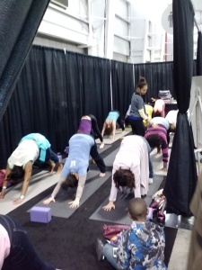yoga led by different instructors throughout the day