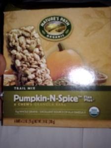 Nature's Path Organic Pumpkin-N-Spice granola bars