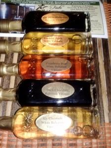 Taste the Olive vinegar sampling