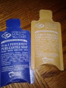 Dr. Bronner's Pure Castille Soap.