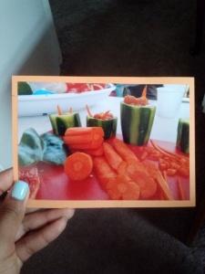 Denine put together this postcard herself